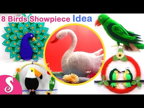 8 BEST Ideas of DIY Birds Hanging | Make Peacock,Parrot,Swan,Elephant,Pegeon,Toucan for Home Decor