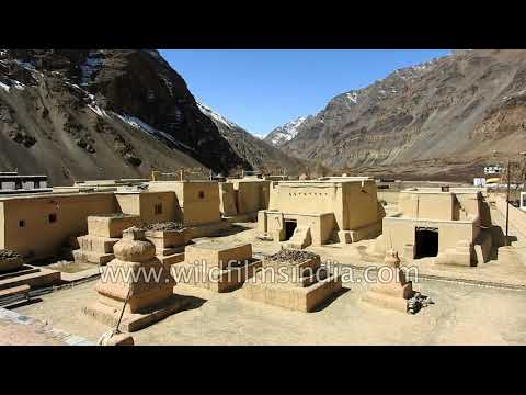 Tabo Monastery at 10,010 ft in Spiti valley of Himachal Pradesh