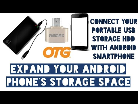 How to: Connect External/Portable Storage /Hard drive/ thumb drive to Android using OTG Adapter