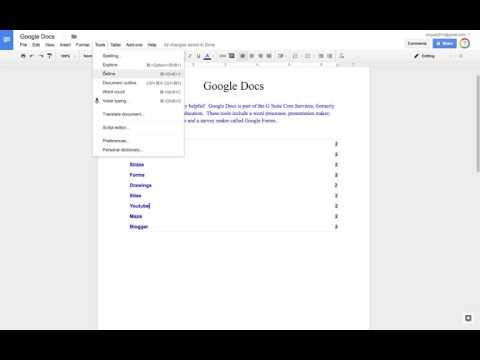 Extra Tools in Google Docs