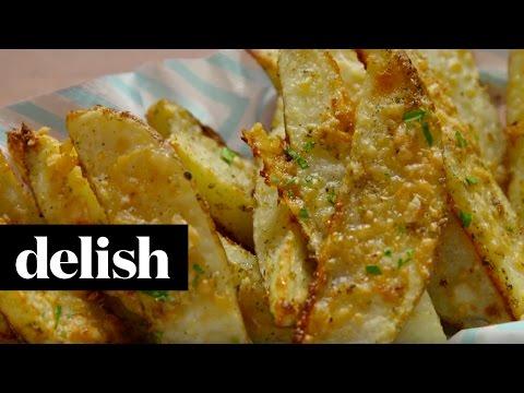 Parmesan Potato Wedges | Delish