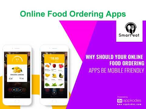 Develop mobile apps for restaurant ordering system