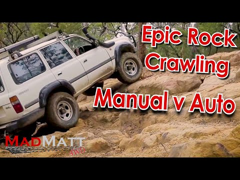 Epic Rock Crawling at Wheeny Creek! Landcruiser Auto vs Manual - MadMatt 4wd