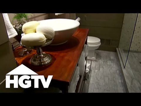 How to Make a Small Bathroom Look Bigger - HGTV Video