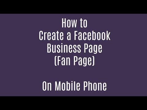 how to create facebook page on mobile phone
