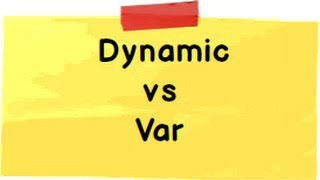 Var vs Dynamic in c# ( C# interview questions with answers)