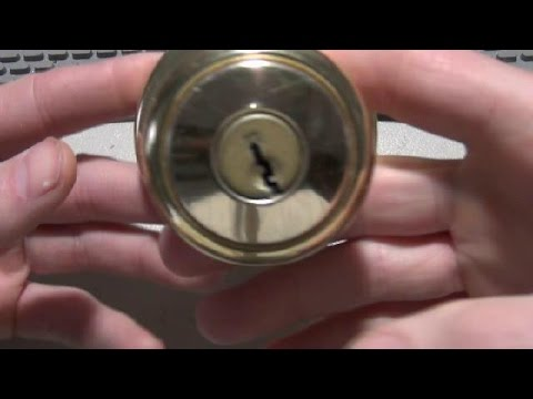 How to Disassemble and Remove the Cylinder from a Kwikset Door Knob