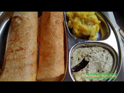 Rava Dosa Without Rice Flour/ Instant Recipe In Hindi And Urdu By Mazedar Kitchen