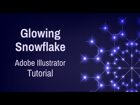 Glowing Snowflake - Adobe Illustrator Tutorial