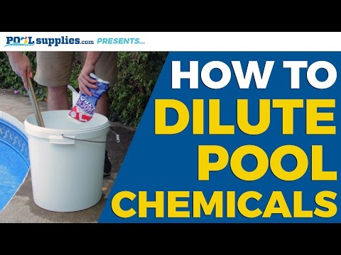 How to Dilute Swimming Pool Chemicals