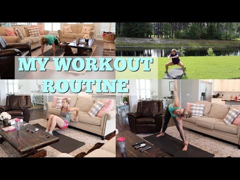 MY WORKOUT ROUTINE // BBG WORKOUT // AT HOME WORKOUT ROUTINE
