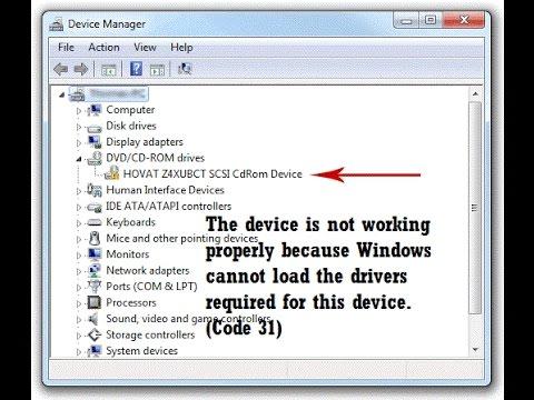 How to fix network adapter code 31 error (device is not working.