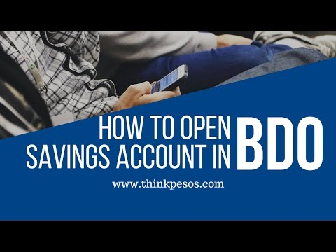 How to open savings account in BDO