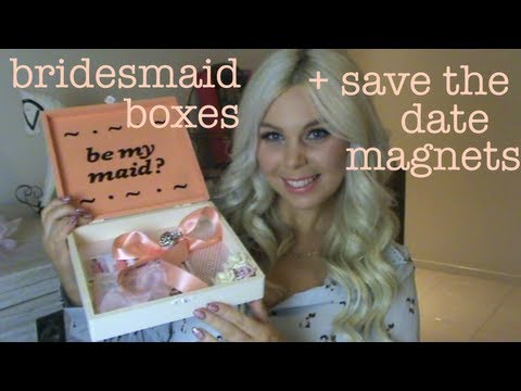Bridesmaid Boxes, Save The Date Magnets and Thank You Cards