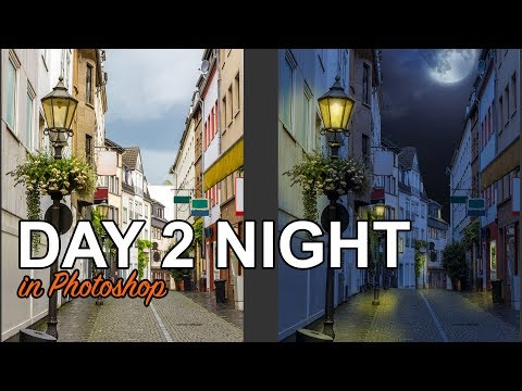 How to turn DAY into NIGHT in Photoshop in 3 easy steps