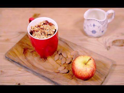 Apple crumble microwave mug cake recipe