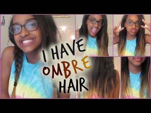 DIY TEMPORARY OMBRE HAIR || Stema Hair