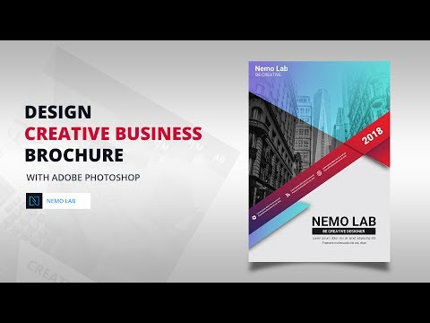 DESIGN Creative business  brochure with Adobe Photoshop