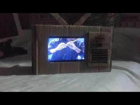 How to make a cardboard  tv