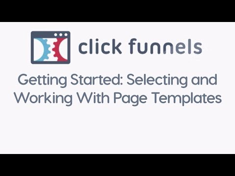 Getting Started: Selecting and Working With Page Templates