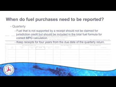 Record-keeping Requirements for Fuel Tax (IFTA)