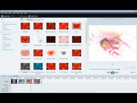 Add effects to video clips using Windows Movie Maker