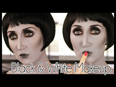 Grayscale Black & White Effect Halloween Makeup Tutorial