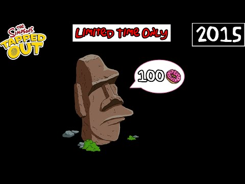TSTO - Easter Island God - 100 donuts (Limited Time)