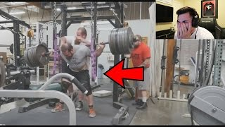 REACTING TO INSANE WEIGHTLIFTING ACCIDENTS