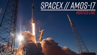 Watch SpaceX say goodbye to a Block 5 booster (Amos-17 mission)