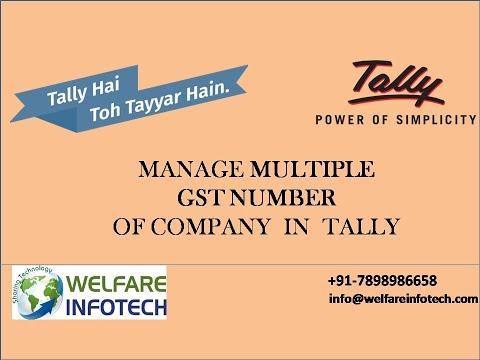 Multiple GST Registration in Tally.ERP 9