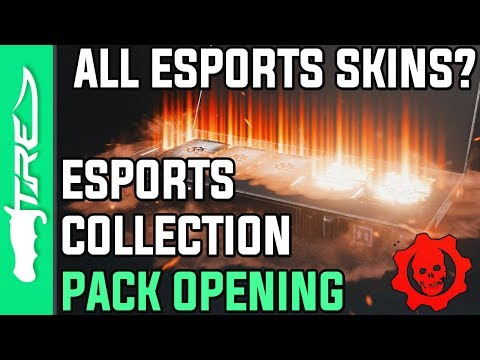 ALL BLACK STEEL & ESPORTS SKINS? - Gears of War 4 Gear Packs Opening - 13 ESPORTS COLLECTION PACKS!