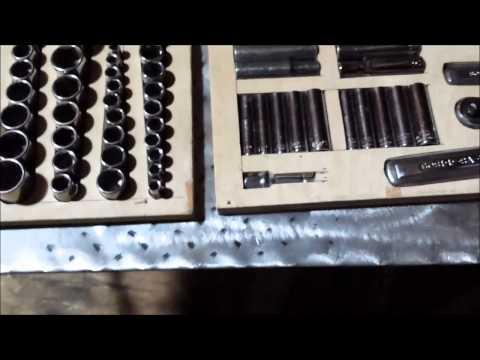 Making storage trays for my socket set