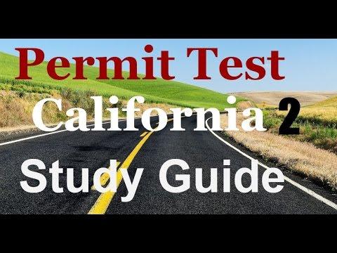 Permit Test Study Guide California #2-Driver's License.
