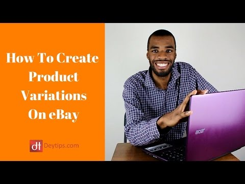 How To Do A Variation Listing On eBay | Multiple Listings On eBay Tutorial