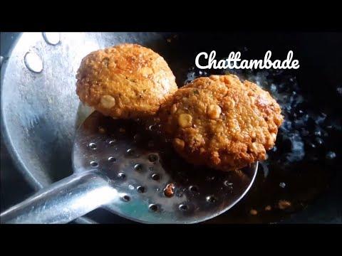 chattambade recipe in kannada - channa dal vada