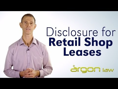 Disclosure for Retail Shop Leases // Argon Law // Tips from a Sunshine Coast Lawyer
