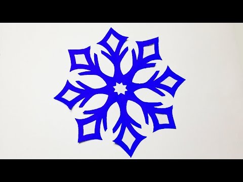 DIY-paper snowflakes#How to make easy paper cutting snowflake designs#easy paper craft