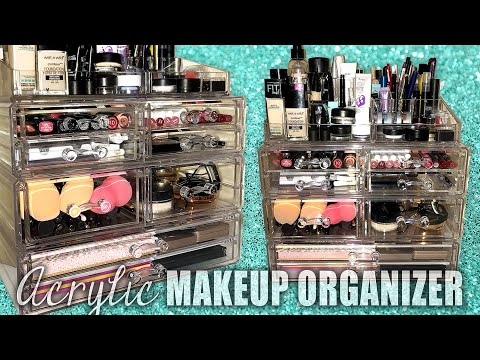 HOW I ORGANIZE My Makeup + Acrylic Organizer REVIEW || Lucykiins