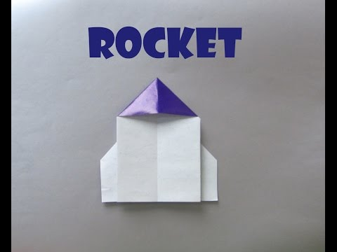 How to make Origami Paper Rocket | Easy Origami Rocket Ship |  Paper Craft Ideas