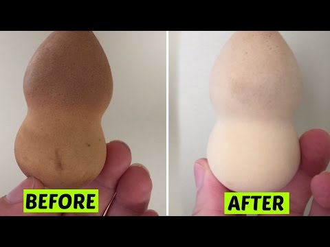HOW TO CLEAN A BEAUTY BLENDER!
