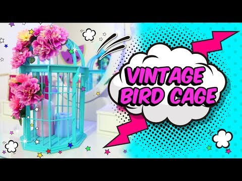 EASY and simple CRAFTS to DECORATE your ROOM make a vintage BIRD cage DIY using cardboard