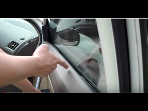 Civic Window Fix: Inside Rubber Sticking