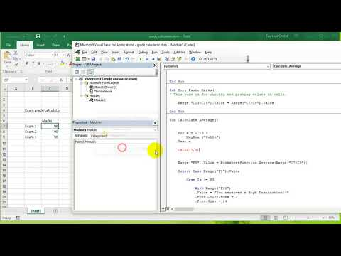 VBA Excel 2016 Lesson 9 - For Next statement, Cells() property