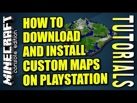 MINECRAFT - PS3  - HOW TO DOWNLOAD AND INSTALL MAPS ( PLAYSTATION ) TUTORIAL