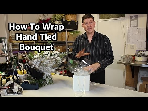 How To Gift Wrap a Hand Tied Bouquet