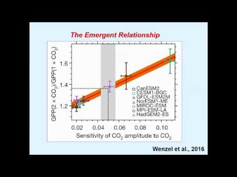 Webinar by Prof Peter Cox about the paper in the journal Nature by Wenzel et al. 2016