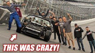 LEROY vs. TERRIFYING Daytona BANK TURNS! (seriously insane)