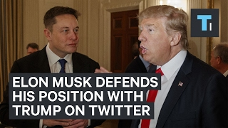 Elon Musk launched a tweetstorm defending his position as a Trump advisor