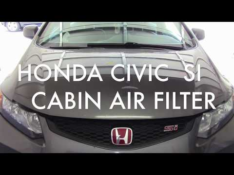 How to replace your CABIN AIR FILTER, HONDA CIVIC SI  (2012-2015)